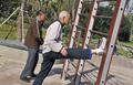 越老越健身:泉州63岁老人自制健身器材健身25年不间断