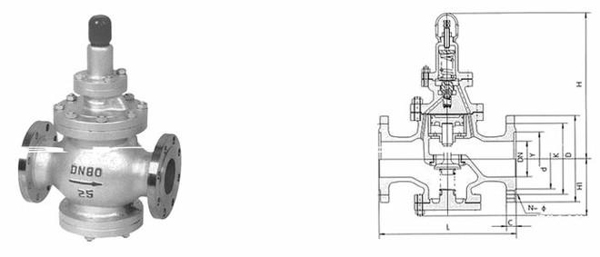 蒸汽减压阀图片和结构图