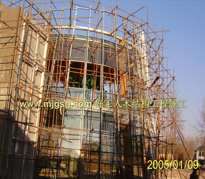 北京温哥华森林公园重木结构施工