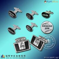 丝印移印样品--金属袖扣印刷商标