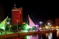 梨城夜景中靓丽的风景线-花园酒店