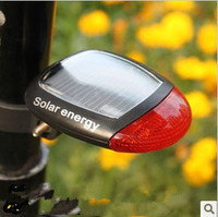 自行车太阳能后尾灯山地车灯骑行警示灯免充电单车灯 装备配件