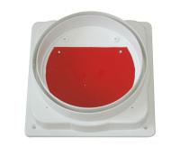 优质塑料红色铁门烟道止回阀烟道止逆阀厂家