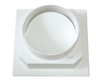 优质塑料两头圆卫生间烟道止回阀小B帽